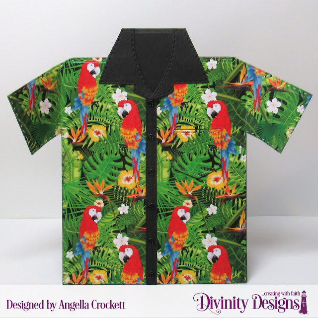 Divinity Designs LLC: Cool and Casual Paper Pad, Couture Collection Dies, Everyday Shirt Dies; Card Designer Angie Crockett