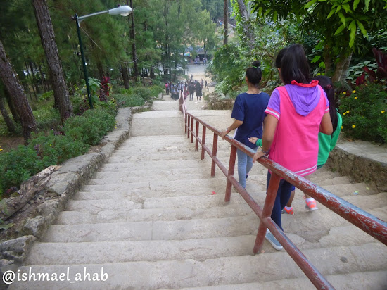 Stairway to Wright Park of Baguio City