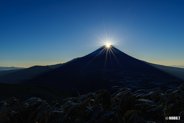 2017元旦の初日の出ダイヤモンド富士~竜ヶ岳