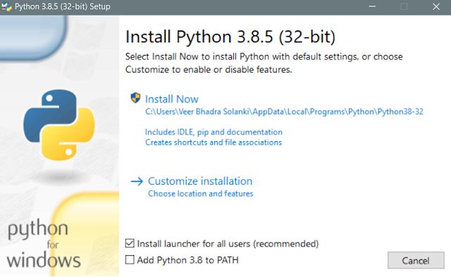 install python 64 bit windows