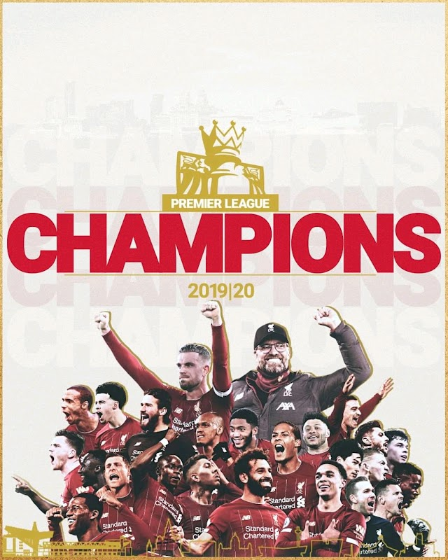 BREAKING NEWS!! Liverpool Have Won The English Premier League Title For The First Time In 30 Years
