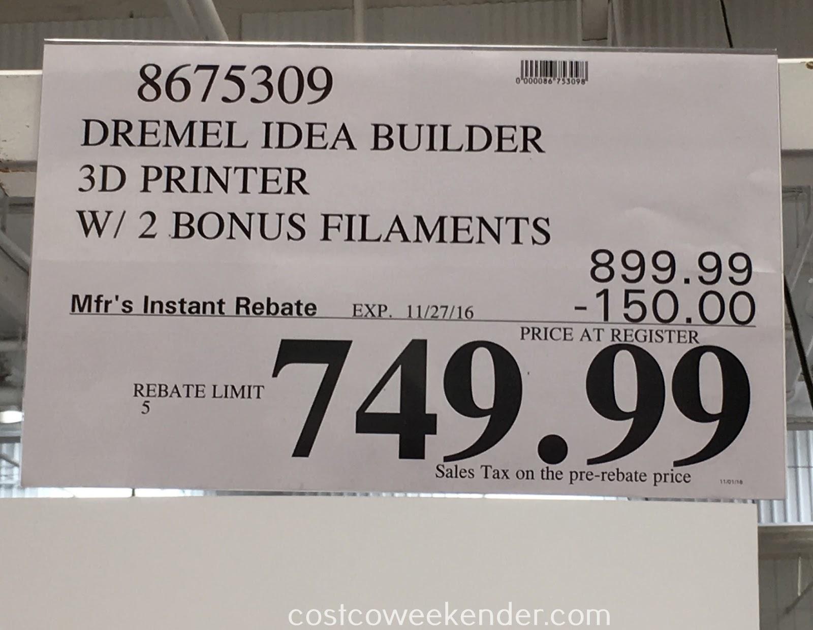 Deal for the Dremel Idea Builder 3D Printer at Costco