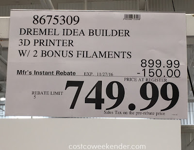 Deal for the Dremel Idea Builder 3D Printer at Costco