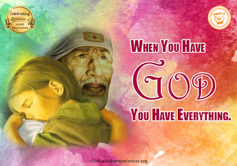 God Is Everything - Sai Baba Hugging A Kid Painting Image