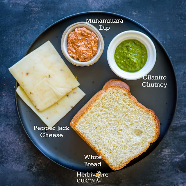 Ingredients for Tricolor Sandwiches
