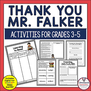As the new year begins, it's so important to build a positive classroom climate. This post includes lesson suggestions for the beginning weeks. Thank You Mr. Falker is a Must Read during the first few days.