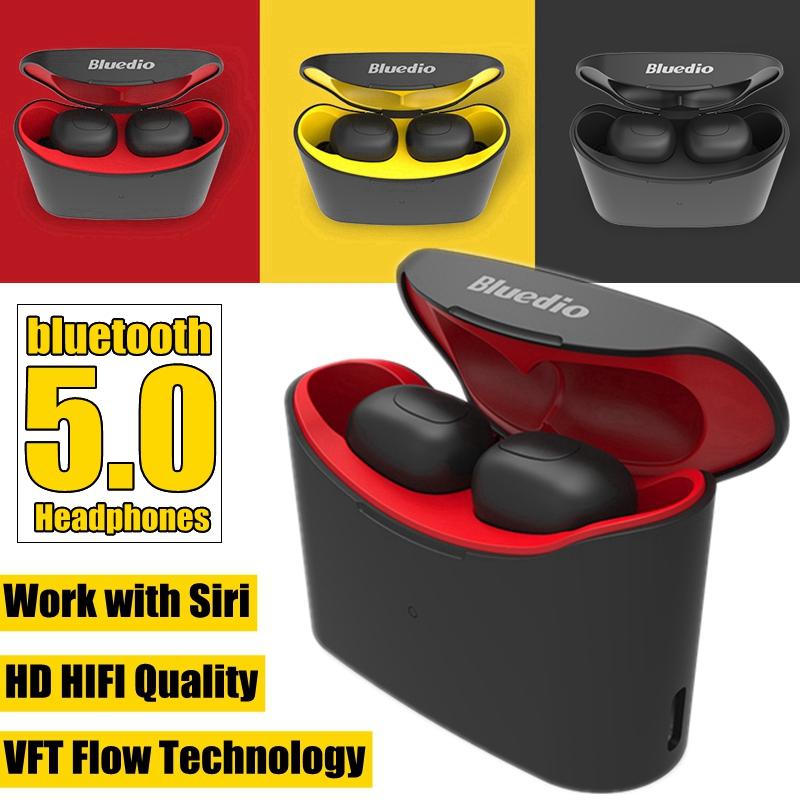 Bluedio Tws T Bluetooth 5 0 Headset Hifi Tws Wireless Earphone Mini Earbuds Stereo Headphones Mixed Shopping
