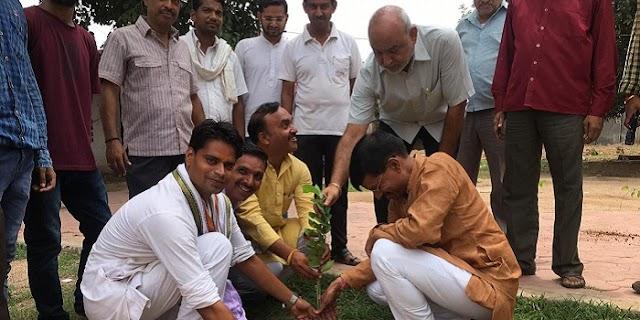 वृक्ष लगांए, ग्वालियर के हरा-भरा बनांए प्रदूषण मिटांए: शर्मा   GWALIOR NEWS