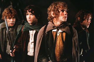 Sam, Frodo, Merry y Pippin