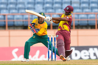 Evin Lewis 71 - West Indies vs South Africa 1st T20I 2021 Highlights