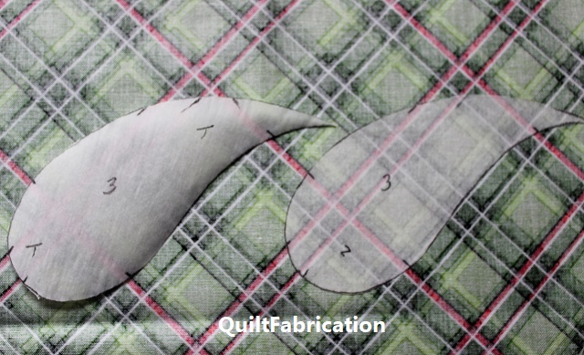 aligning marked fusible with the fabric pattern repeat