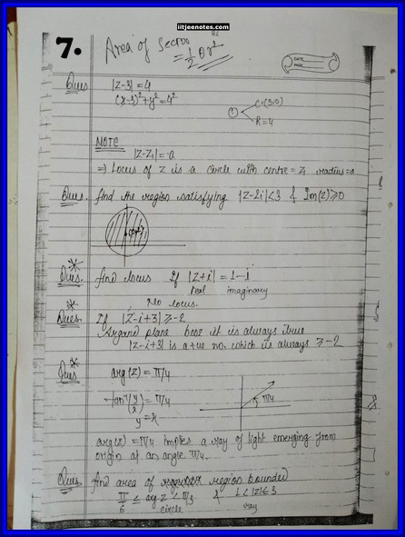 iitjee notes on complex number 7