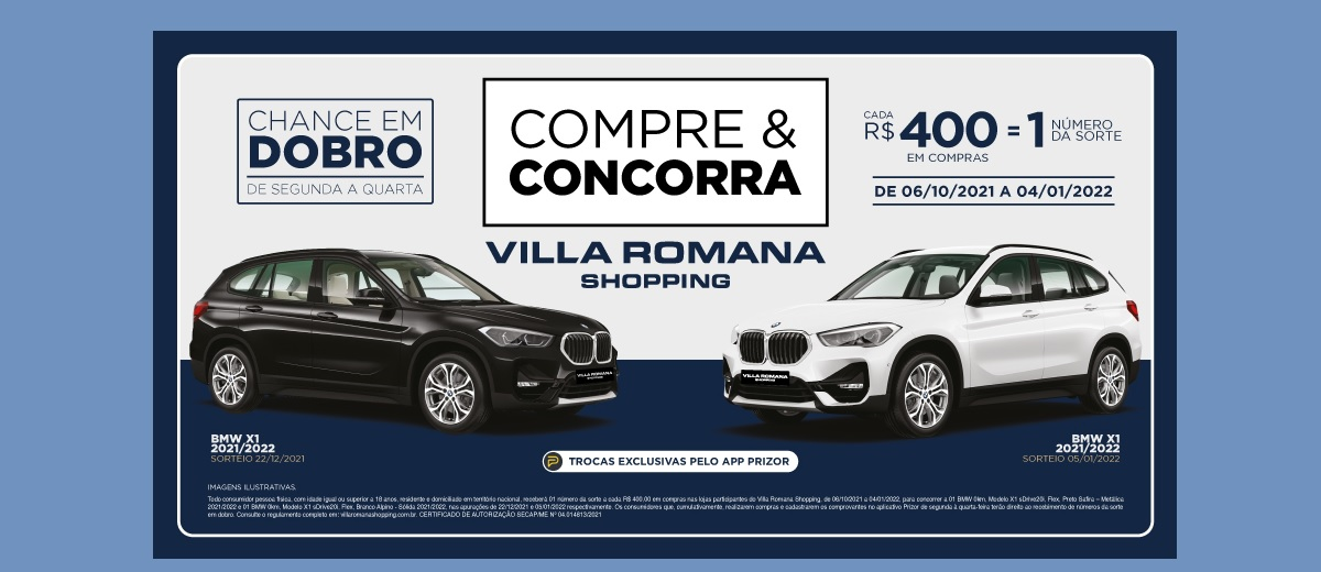 Promoção Villa Romana Natal 2021 Sorteio