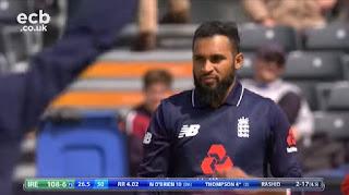 Adil Rashid 5-27 - England vs Ireland 1st ODI 2017 Highlights