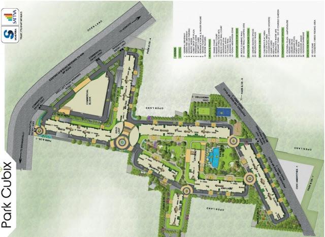 Salarpuria Sattva Park Cubix Master plan