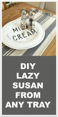 How to make a Farmhouse Lazy Susan