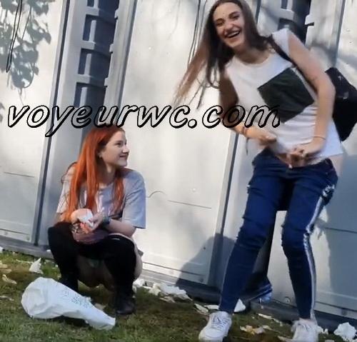 Girls Gotta Go 179 (Voyeur pee videos - Drunk spanish chicks peeing in public at festival)