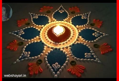 Rangoli Designs with Flowers Petals - रंगोली डिजाइन विद फ्लावर पेटल्स