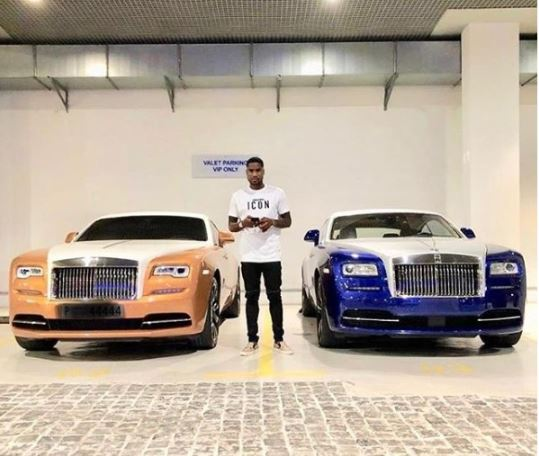 Super Eagles Player, Brown Ideye Buys 2018 Rolls Royce For His Birthday (Photos)