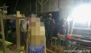 Babinsa Datangi Lokasi Kejadian Warga Gantung Diri Di Desa Troso
