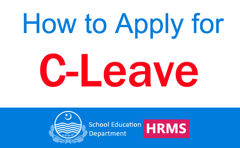 C-Leave on HRMS Online | How to Apply for C-Leave on HRMS | School Education Department Punjab