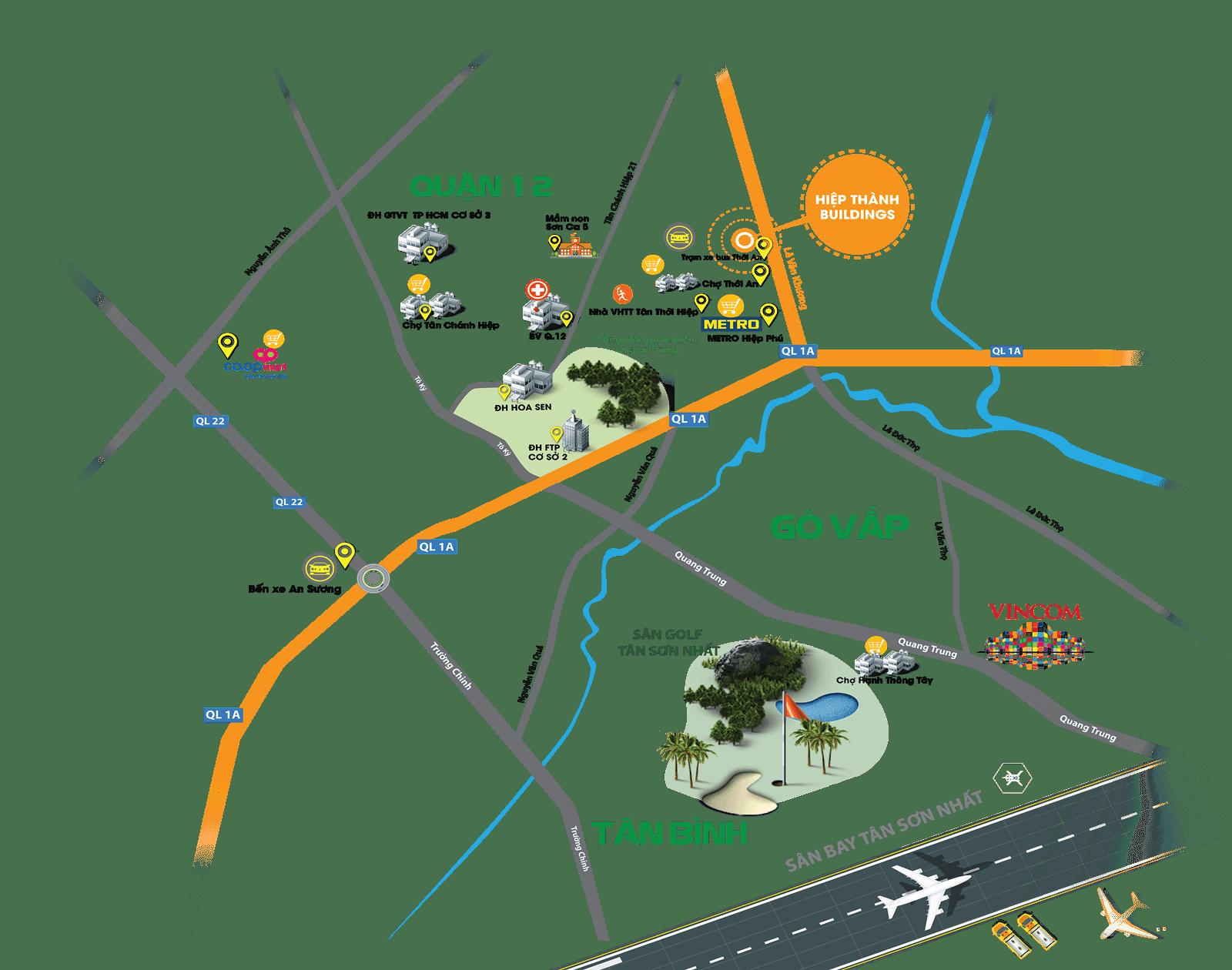 Bản đồ vị trí CĂN HỘ HIỆP THÀNH