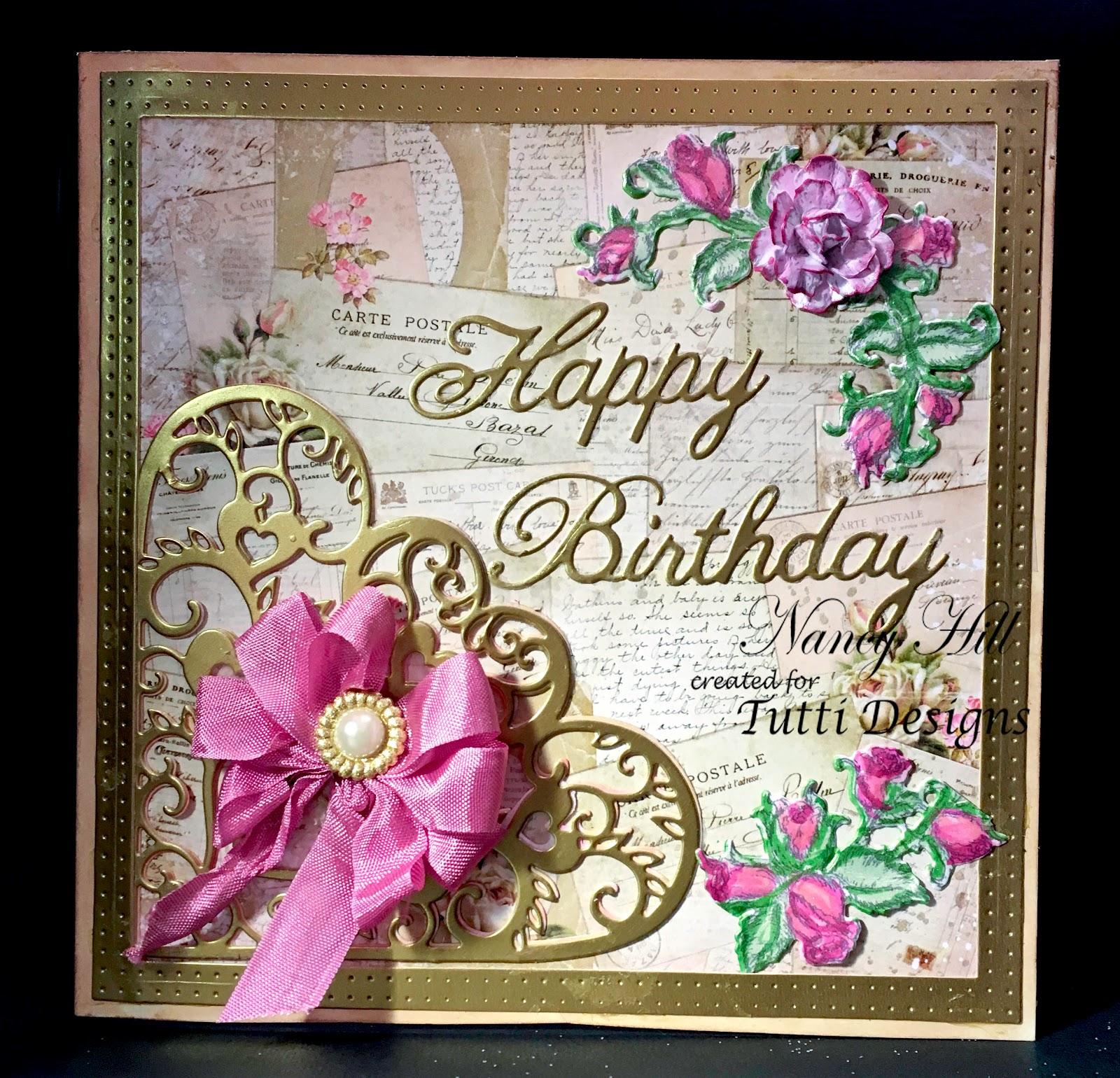 Tutti Designs Happy Birthday Card