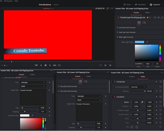 personalizzazione del titolo in 3D
