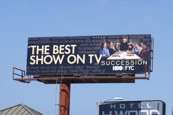 Succession season 2 Emmy FYC billboard