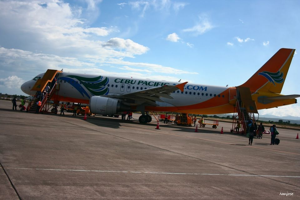Cebu Pacific flight from General Santos City to Manila