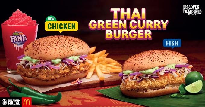 Thai Green Curry Burger sedap dan kurang pedas