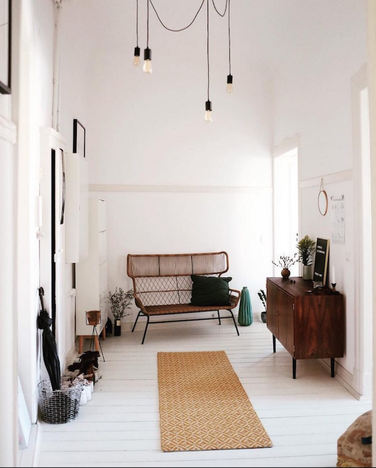 Sitting room with a boho vibe. The modern bohemian vibe captured our hearts  and minds in 2017 (once again)- and this Polish home designed by Magdalena  ...