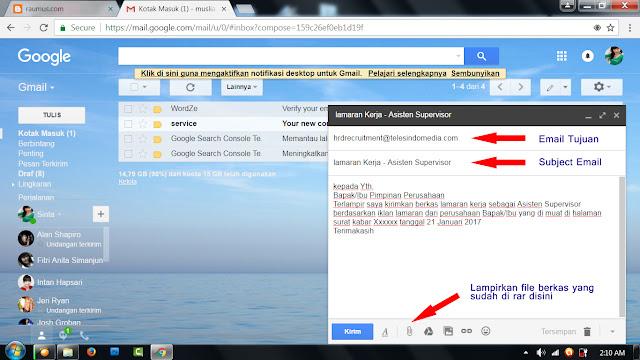 Cara Kirim Lamaran Kerja Lewat Email