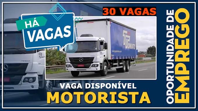 Grupo Toniato abre 30 vagas para Motorista Truck