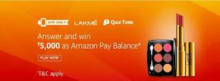 Amazon Lakme Quiz Time image