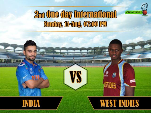 West Indies vs India, 2nd ODI Match Dream11 Team