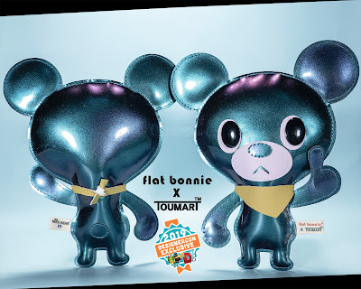 Designer Con 2019 Exclusive Flat Hitch Bear Plush by Flat Bonnie x Touma