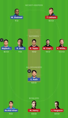 AFGH vs NZ Dream 11 Team | NZ vs AFGH