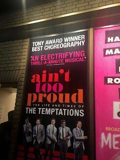 Ain't Too Proud Schubert Alley Poster Broadway New York City