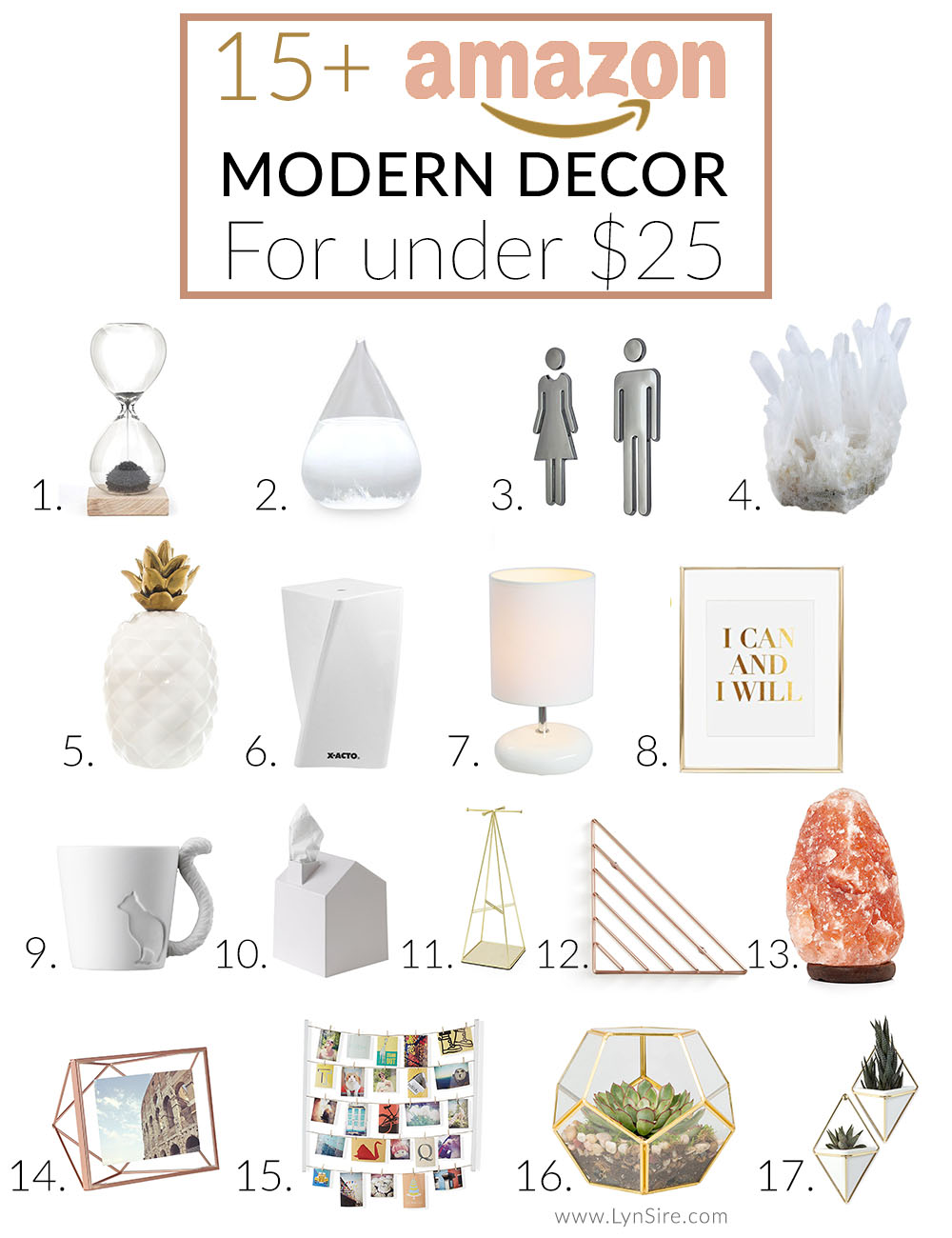 15 modern decor finds on amazon for under 25 lynsire for Home decorations amazon