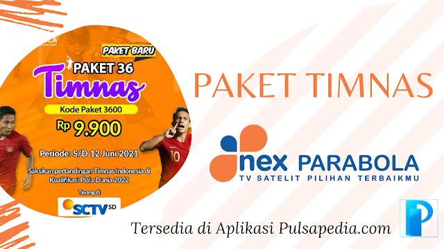 Harga dan Cara Beli Paket Timnas Nex Parabola