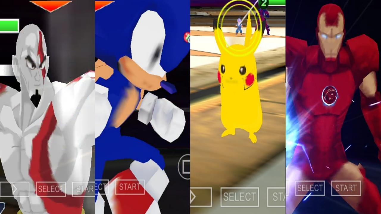 Anime Crossover dbz ttt mod PSP