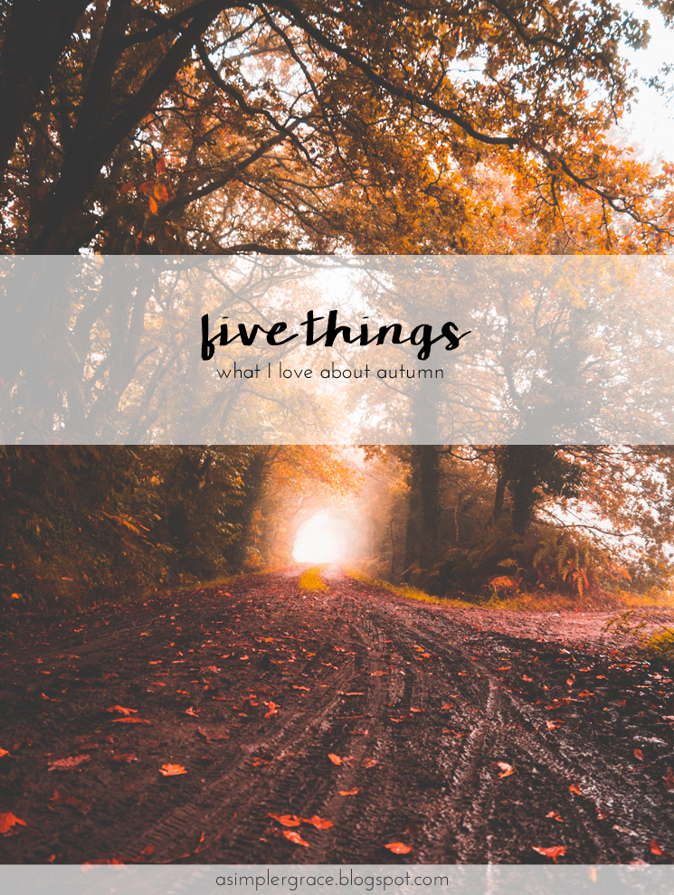 Five things I love about autumn. #autumn #fivethings