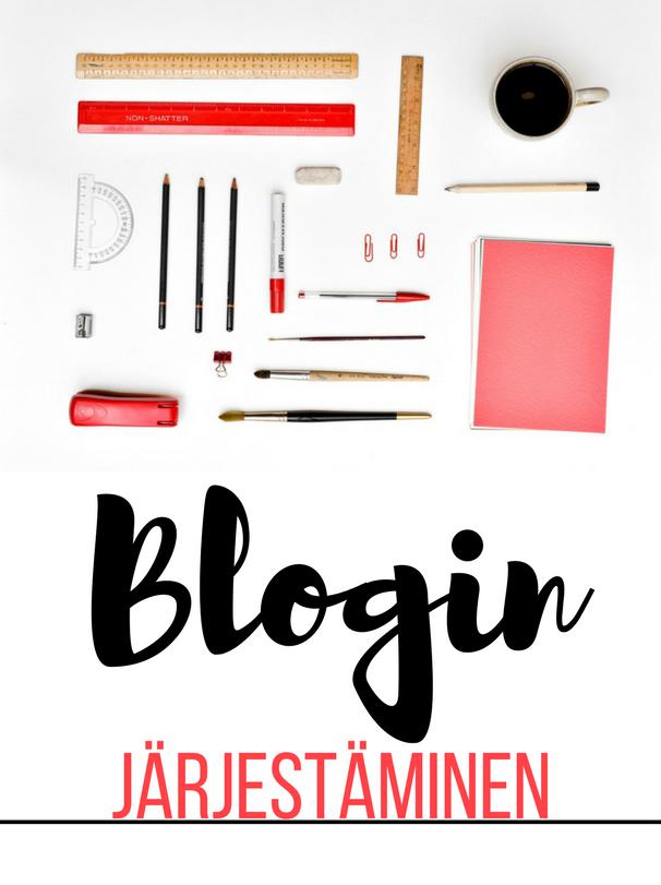Vinkkejä blogin järjestämiseen ja organisoimiseen