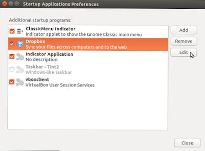 Cara mudah setting aplikasi startup ubuntu