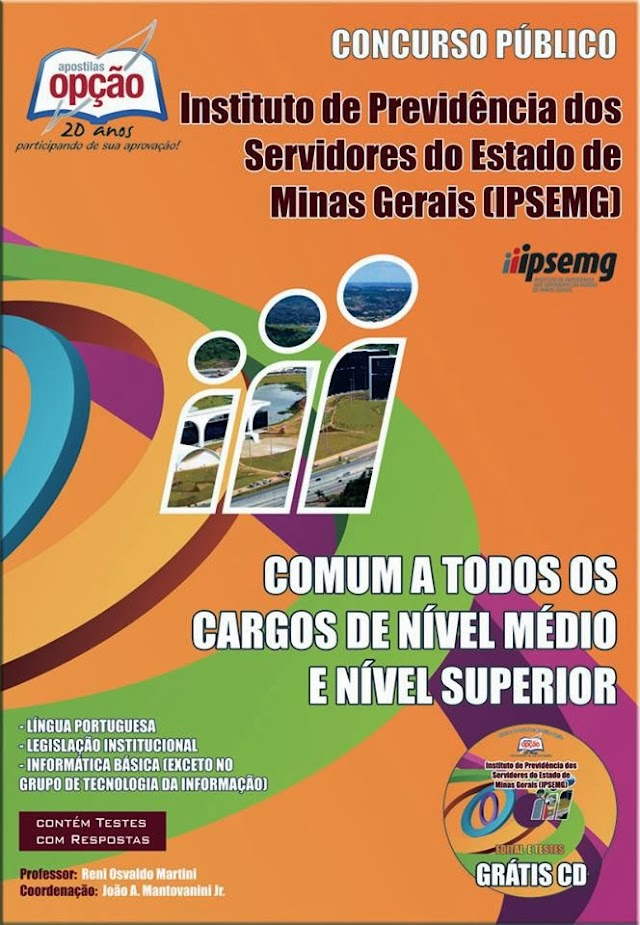 Apostila IPSEMG - Técnico e Analista Comum a Todos os Cargos