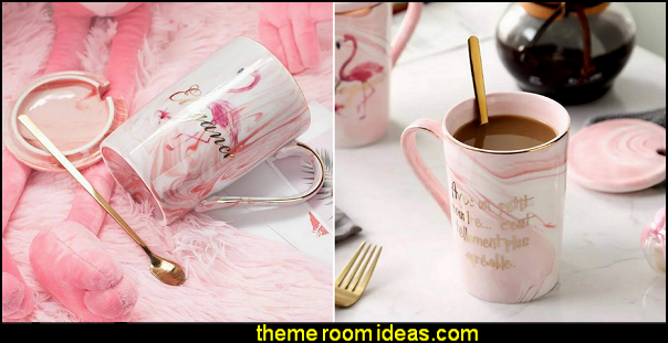 Marble Flamingo Mugs   decorative kitchen items - novelty mugs - unique kitchen gadgets - food pillows - kitchen wall decals - kitchen wall quotes - cool stuff to buy - kitchen cupboard contact paper -  kitchen storage ideas - cute kitchen utensils - fun cooking tools - dining decor -