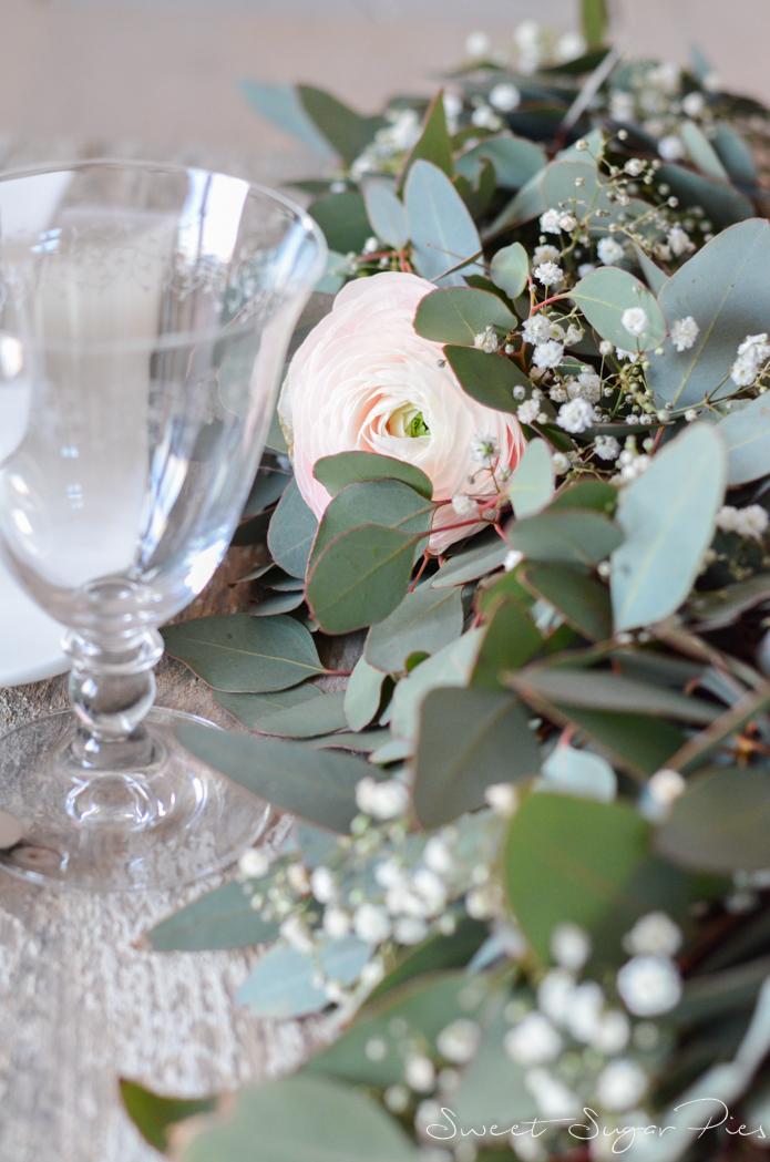 Girlande Binden sugar pies floristik mittwoch tischgirlande im greenery style