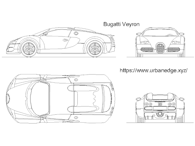 Bugatti Veyron car cad block download free