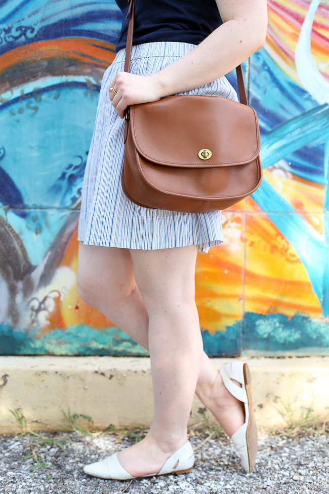 The Striped Skirt | Something Good, coach classic saddle bag